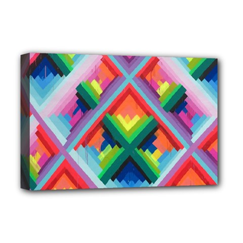 Rainbow Chem Trails Deluxe Canvas 18  x 12