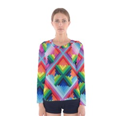 Rainbow Chem Trails Women s Long Sleeve Tee