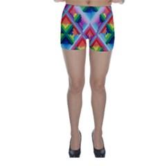 Rainbow Chem Trails Skinny Shorts