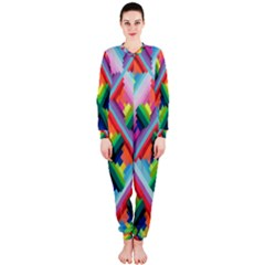Rainbow Chem Trails OnePiece Jumpsuit (Ladies)