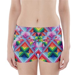 Rainbow Chem Trails Boyleg Bikini Wrap Bottoms