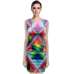 Rainbow Chem Trails Classic Sleeveless Midi Dress