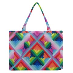 Rainbow Chem Trails Medium Zipper Tote Bag