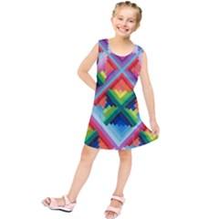 Rainbow Chem Trails Kids  Tunic Dress