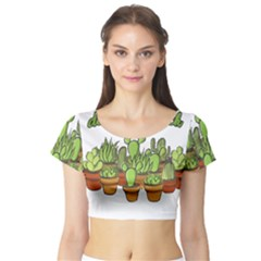 Cactus   Dont Be A Prick Short Sleeve Crop Top (tight Fit)