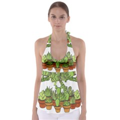 Cactus   Dont Be A Prick Babydoll Tankini Top