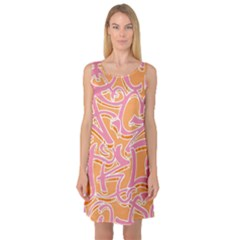Abc Graffiti Sleeveless Satin Nightdress