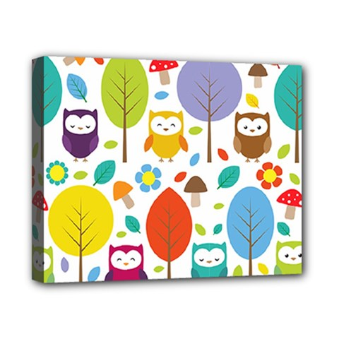 Cute Owl Canvas 10  x 8
