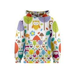Cute Owl Kids  Pullover Hoodie