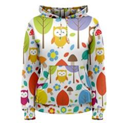 Cute Owl Women s Pullover Hoodie