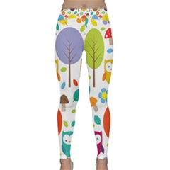 Cute Owl Classic Yoga Leggings