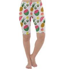 Fruits Pattern Cropped Leggings