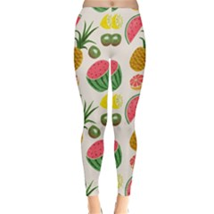 Fruits Pattern Classic Winter Leggings