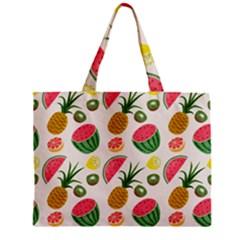 Fruits Pattern Zipper Mini Tote Bag