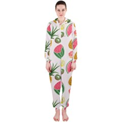 Fruits Pattern Hooded Jumpsuit (ladies)