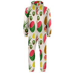 Fruits Pattern Hooded Jumpsuit (Men)