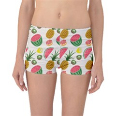 Fruits Pattern Boyleg Bikini Bottoms