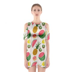 Fruits Pattern Shoulder Cutout One Piece