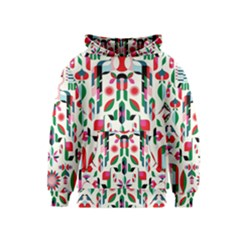 Abstract Peacock Kids  Pullover Hoodie
