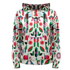 Abstract Peacock Women s Pullover Hoodie