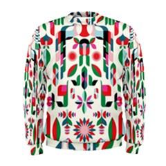 Abstract Peacock Men s Sweatshirt
