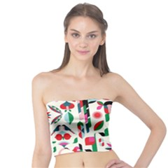 Abstract Peacock Tube Top