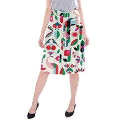 Abstract Peacock Midi Beach Skirt