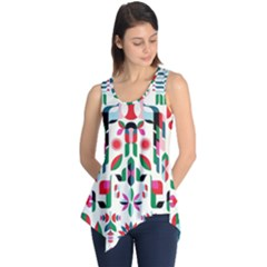 Abstract Peacock Sleeveless Tunic