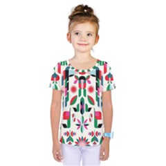 Abstract Peacock Kids  One Piece Tee