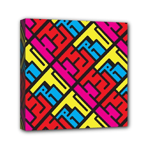 Hert Graffiti Pattern Mini Canvas 6  x 6