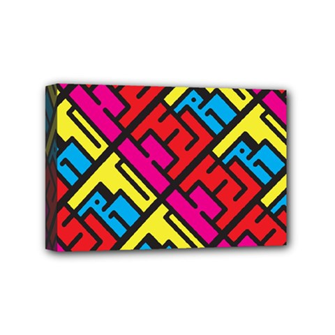 Hert Graffiti Pattern Mini Canvas 6  x 4