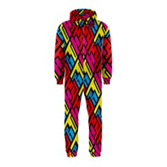Hert Graffiti Pattern Hooded Jumpsuit (Kids)