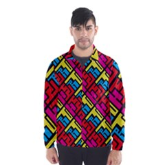 Hert Graffiti Pattern Wind Breaker (Men)