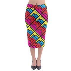 Hert Graffiti Pattern Midi Pencil Skirt