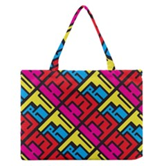 Hert Graffiti Pattern Medium Zipper Tote Bag