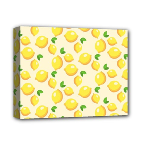 Lemons Pattern Deluxe Canvas 14  x 11