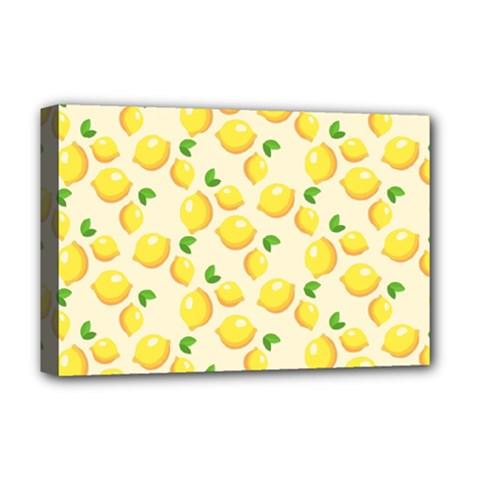 Lemons Pattern Deluxe Canvas 18  x 12