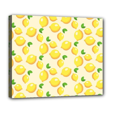Lemons Pattern Deluxe Canvas 24  x 20