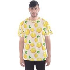 Lemons Pattern Men s Sport Mesh Tee