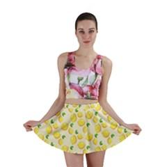 Lemons Pattern Mini Skirt