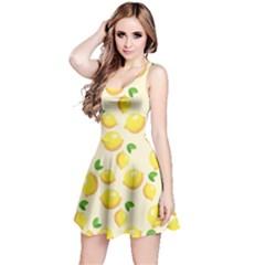 Lemons Pattern Reversible Sleeveless Dress