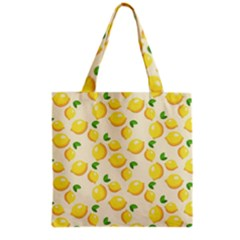 Lemons Pattern Grocery Tote Bag