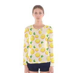 Lemons Pattern Women s Long Sleeve Tee