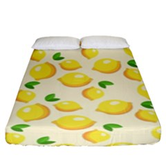 Lemons Pattern Fitted Sheet (king Size)