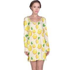 Lemons Pattern Long Sleeve Nightdress