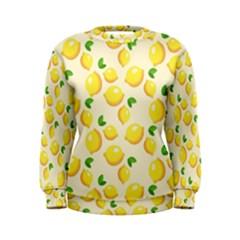 Lemons Pattern Women s Sweatshirt