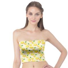 Lemons Pattern Tube Top