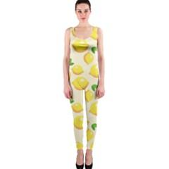 Lemons Pattern OnePiece Catsuit