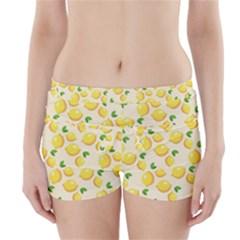 Lemons Pattern Boyleg Bikini Wrap Bottoms