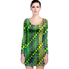 Patterns For Wallpaper Long Sleeve Bodycon Dress